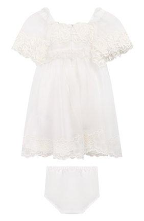 Комплект из хлопкового платья с шортами | Фото №2