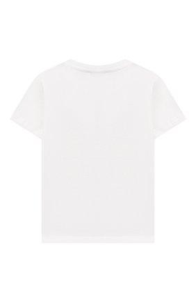Детский хлопковая футболка DOLCE & GABBANA белого цвета, арт. L1JT7W/G7SFF | Фото 2