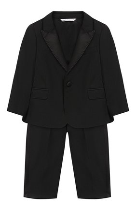Детский костюм из шерсти DOLCE & GABBANA черного цвета, арт. L11U49/FUBBG | Фото 1