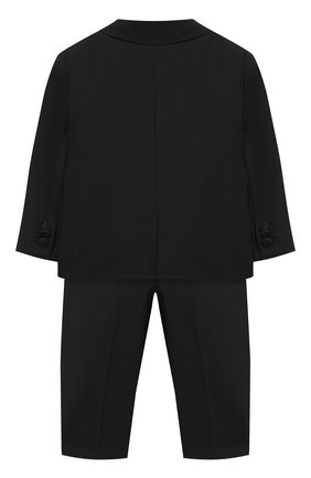 Детский костюм из шерсти DOLCE & GABBANA черного цвета, арт. L11U49/FUBBG | Фото 2