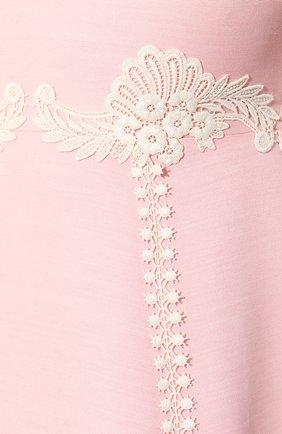 Платье из смеси шелка и шерсти Gucci розовое   Фото №5