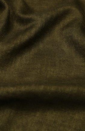 Мужской шарф из смеси кашемира и шелка LORO PIANA хаки цвета, арт. FAI5127 | Фото 2