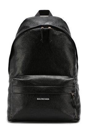 Мужской кожаный рюкзак explorer BALENCIAGA черного цвета, арт. 503221/DB5K5 | Фото 1
