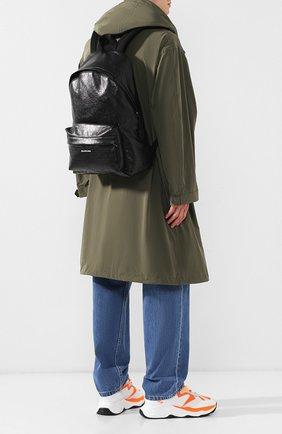 Мужской кожаный рюкзак explorer BALENCIAGA черного цвета, арт. 503221/DB5K5 | Фото 2