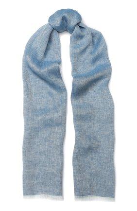 Мужской льняной шарф LORO PIANA голубого цвета, арт. FAI5295 | Фото 1