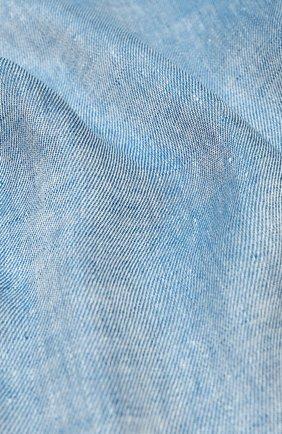 Мужской льняной шарф LORO PIANA голубого цвета, арт. FAI5295 | Фото 2