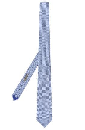 Мужской шелковый галстук CORNELIANI синего цвета, арт. 83U390-9120371/00   Фото 2