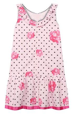 Детское хлопковое платье ALETTA розового цвета, арт. C99808/10A-14A | Фото 2