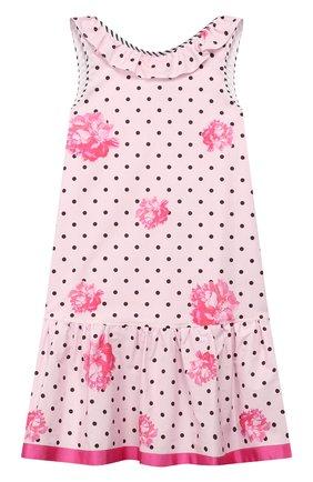 Детское хлопковое платье ALETTA розового цвета, арт. C99808/3A-8A | Фото 1