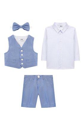 Детский комплект из 4-х предметов ALETTA голубого цвета, арт. M99747/3M-2A | Фото 1