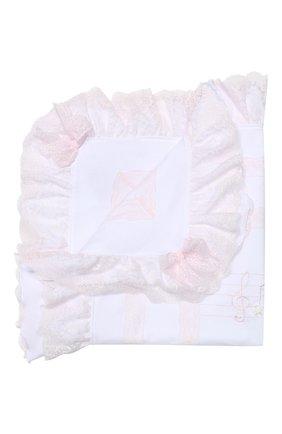 Детского хлопковое одеяло ALETTA белого цвета, арт. RD99240 | Фото 1