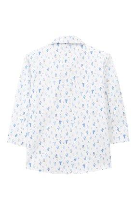 Детский хлопковая рубашка ALETTA белого цвета, арт. RJ99368/1M-18M   Фото 2 (Материал внешний: Хлопок; Рукава: Длинные; Статус проверки: Проверена категория)