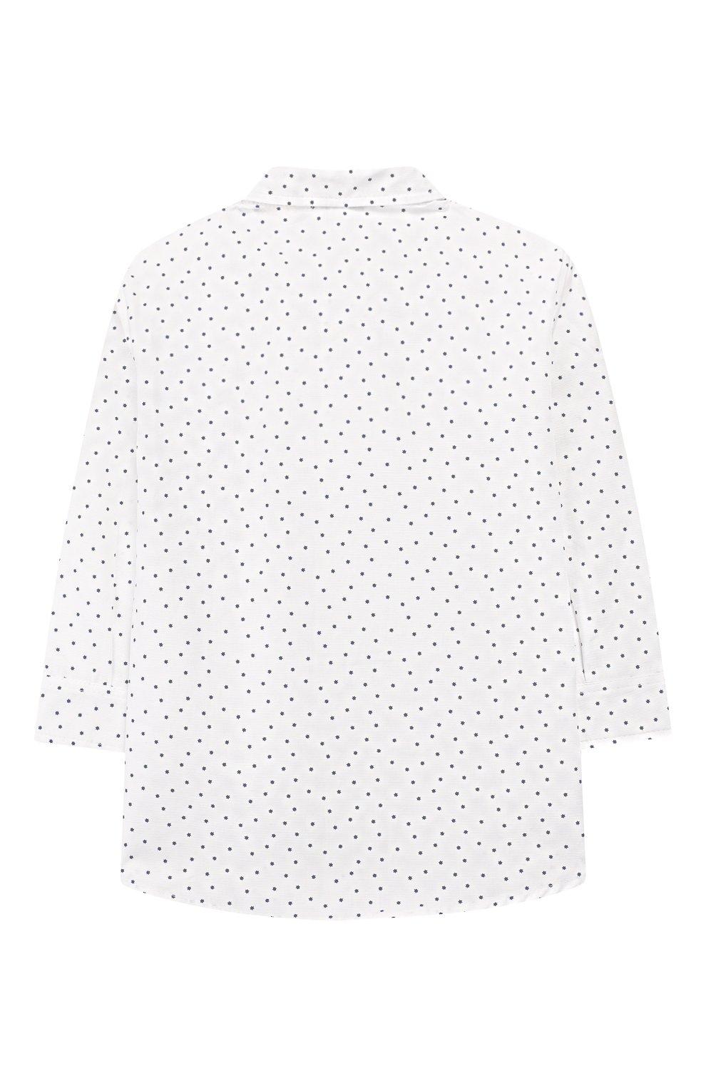 Детский хлопковая рубашка ALETTA белого цвета, арт. RJ99368/1M-18M | Фото 2