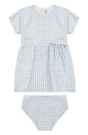 Комплект из хлопкового платья и шорт | Фото №1
