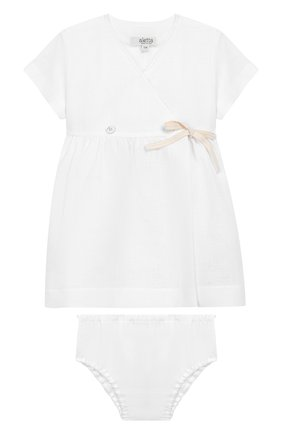Комплект из льняного платья и шорт | Фото №1
