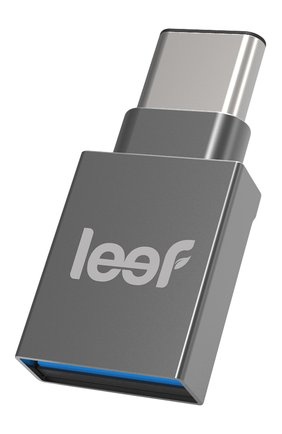 Мужской внешний накопитель bridge-c 64gb LEEF серебряного цвета, арт. LBC000KK064R3 | Фото 1