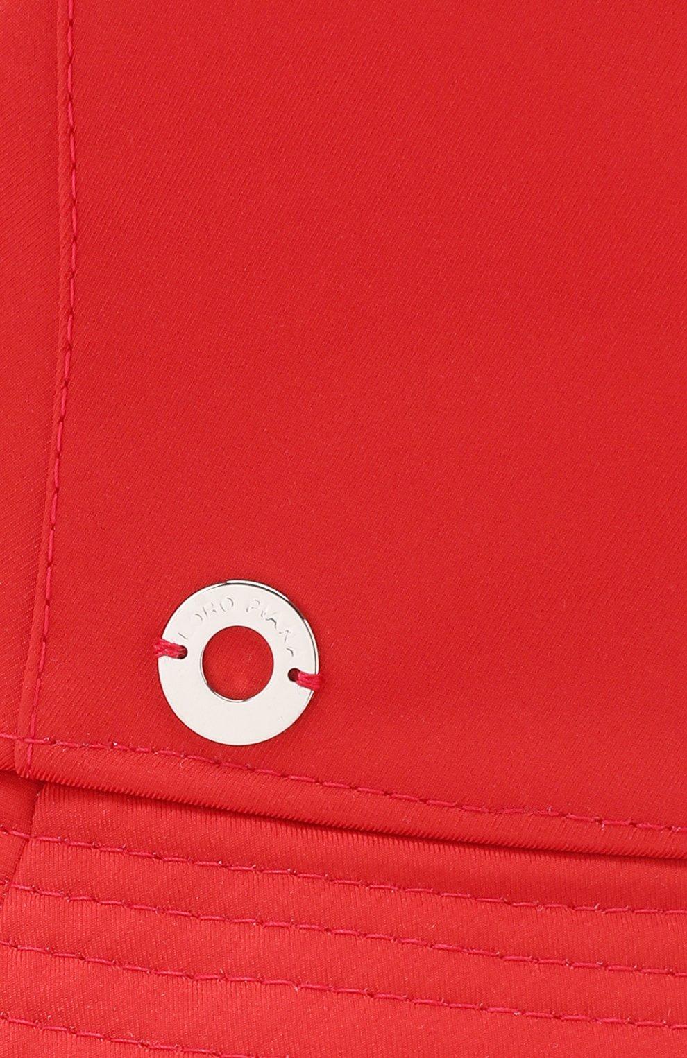Женская текстильная панама LORO PIANA красного цвета, арт. FAI4838   Фото 3