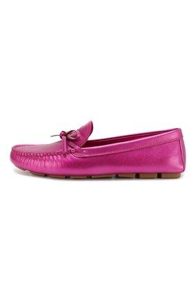 Женские кожаные мокасины PRADA розового цвета, арт. 1D256L-3KGD-F0029-J005 | Фото 2
