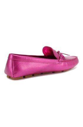 Кожаные мокасины Prada розовые   Фото №3