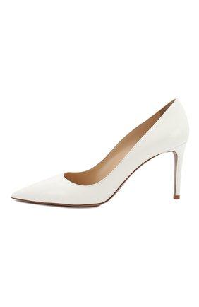Женские кожаные туфли PRADA белого цвета, арт. 1I834I-3A9S-F0009-085 | Фото 2 (Статус проверки: Проверена категория, Проверено; Материал внешний: Кожа; Материал внутренний: Натуральная кожа; Подошва: Плоская; Каблук высота: Высокий; Каблук тип: Шпилька)