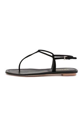 Женские кожаные сандалии PRADA черного цвета, арт. 1Y558B-008-F0002-005 | Фото 2