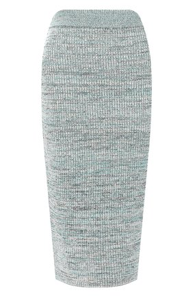 Женская юбка из смеси вискозы и хлопка BOSS зеленого цвета, арт. 50408241 | Фото 1