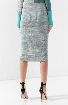 Женская юбка из смеси вискозы и хлопка BOSS зеленого цвета, арт. 50408241 | Фото 4