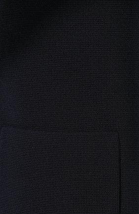 Жакет из смеси шелка и хлопка Loro Piana темно-синий   Фото №5