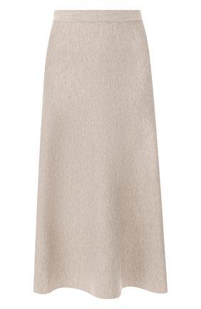 Женская шерстяная юбка GABRIELA HEARST бежевого цвета, арт. F18GH919 | Фото 1