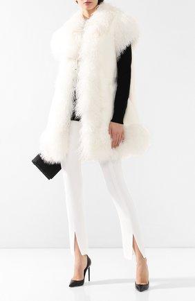 Женский меховой жилет DOLCE & GABBANA белого цвета, арт. I0551W/FUPLH | Фото 2