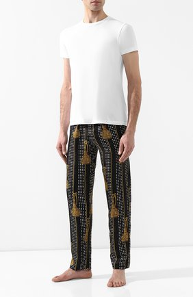 Шелковые домашние брюки | Фото №2