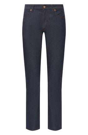 Мужские джинсы прямого кроя GIORGIO ARMANI синего цвета, арт. 3GSJ15/SD98Z | Фото 1