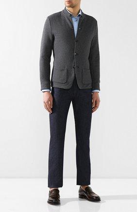 Мужские джинсы прямого кроя GIORGIO ARMANI синего цвета, арт. 3GSJ15/SD98Z | Фото 2