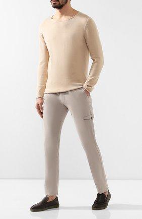 Мужские кожаные лоферы ERMENEGILDO ZEGNA темно-коричневого цвета, арт. A4216X-CVL | Фото 2