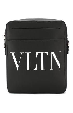 Кожаная сумка-планшет Valentino Garavani VLTN | Фото №1
