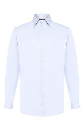 Мужская хлопковая сорочка с воротником кент GIORGIO ARMANI голубого цвета, арт. 8WGCCZMR/TZ262 | Фото 1