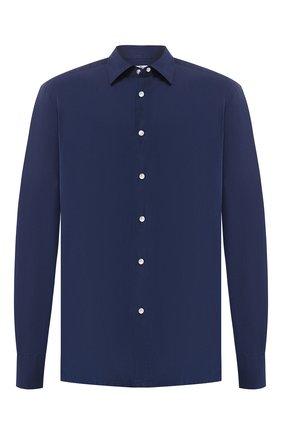 Мужская хлопковая рубашка KITON темно-синего цвета, арт. UMCNERCH0690401   Фото 1