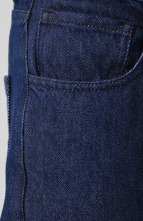 Джинсы прямого кроя Raf Simons темно-синие | Фото №5