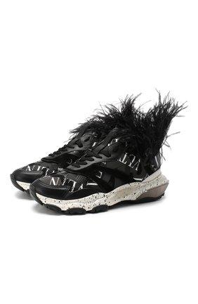 Комбинированные кроссовки Valentino Garavani | Фото №1