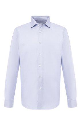 Мужская хлопковая сорочка с воротником кент BRIONI голубого цвета, арт. RCL019/P805R | Фото 1