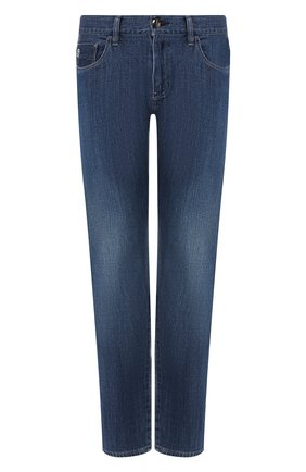 Мужские джинсы прямого кроя GIORGIO ARMANI синего цвета, арт. 3GSJ65/SDP5Z | Фото 1