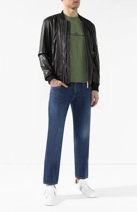 Мужские джинсы прямого кроя GIORGIO ARMANI синего цвета, арт. 3GSJ65/SDP5Z | Фото 2