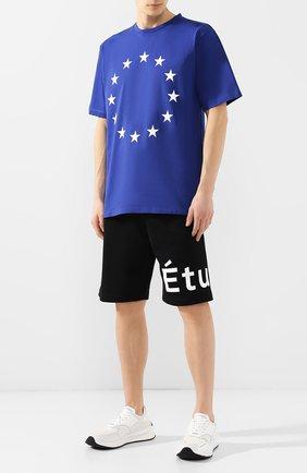 Хлопковая футболка Études синяя | Фото №2