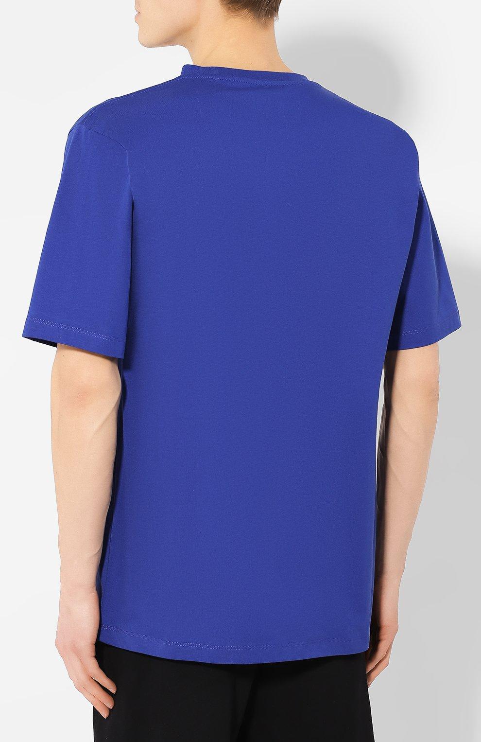 Хлопковая футболка Études синяя | Фото №4