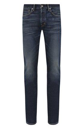 Мужские джинсы прямого кроя TOM FORD синего цвета, арт. BSJ31/TFD003 | Фото 1