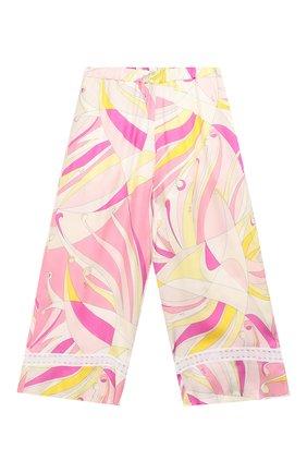 Укороченные брюки из шелка и вискозы   Фото №1