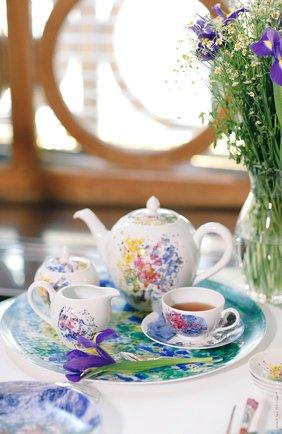 Мужского блюдо les bouquets de fleurs de marc chagall  BERNARDAUD разноцветного цвета, арт. 1827/21418 | Фото 2