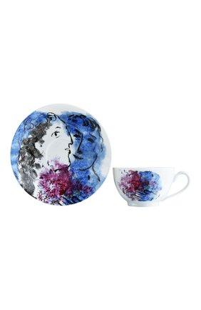 Мужская набор из 2-х чашек с блюдцами les bouquets de fleurs de marc chagall BERNARDAUD разноцветного цвета, арт. 1828/22665 | Фото 2