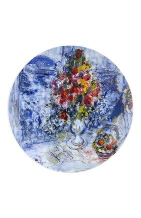 Мужского набор из 4-х салатных тарелок les bouquets de fleurs de marc chagall BERNARDAUD разноцветного цвета, арт. 1828/17-4 | Фото 2