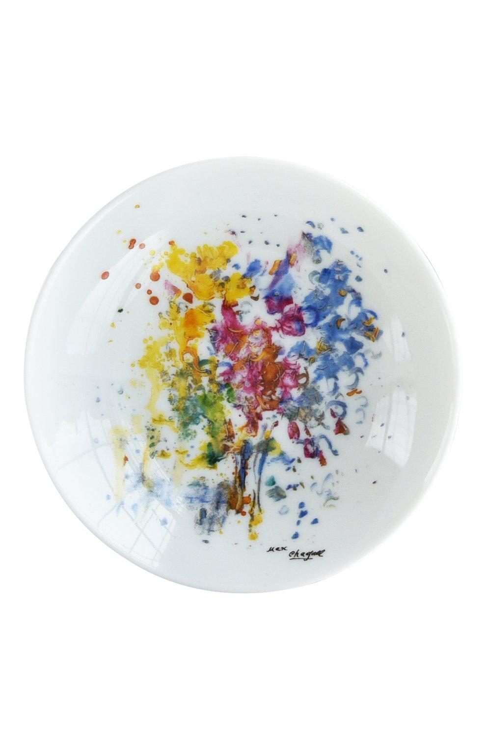 Мужская набор из 4-х розеток les bouquets de fleurs de marc chagall BERNARDAUD разноцветного цвета, арт. 1828/22738 | Фото 2